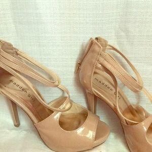 Madden Girl Nude Heels 4 inch heels